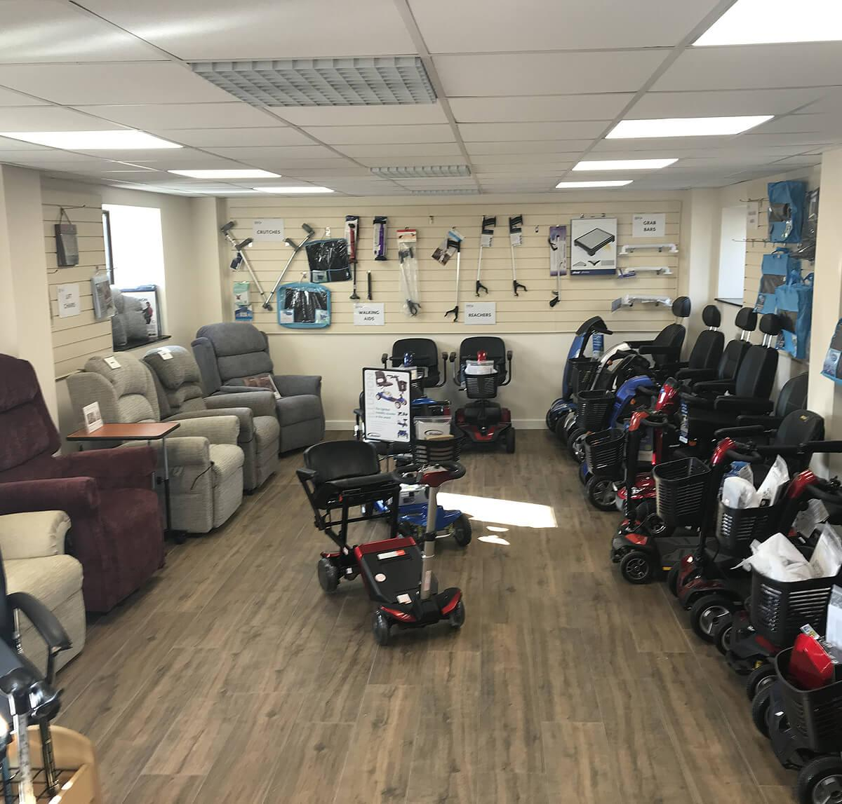 Desborough Showroom Powerchairs
