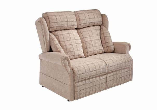 Mobility Your Way Jubilee & Kensey Lateral Back 2 Seater Sofa Plaid Linen - web