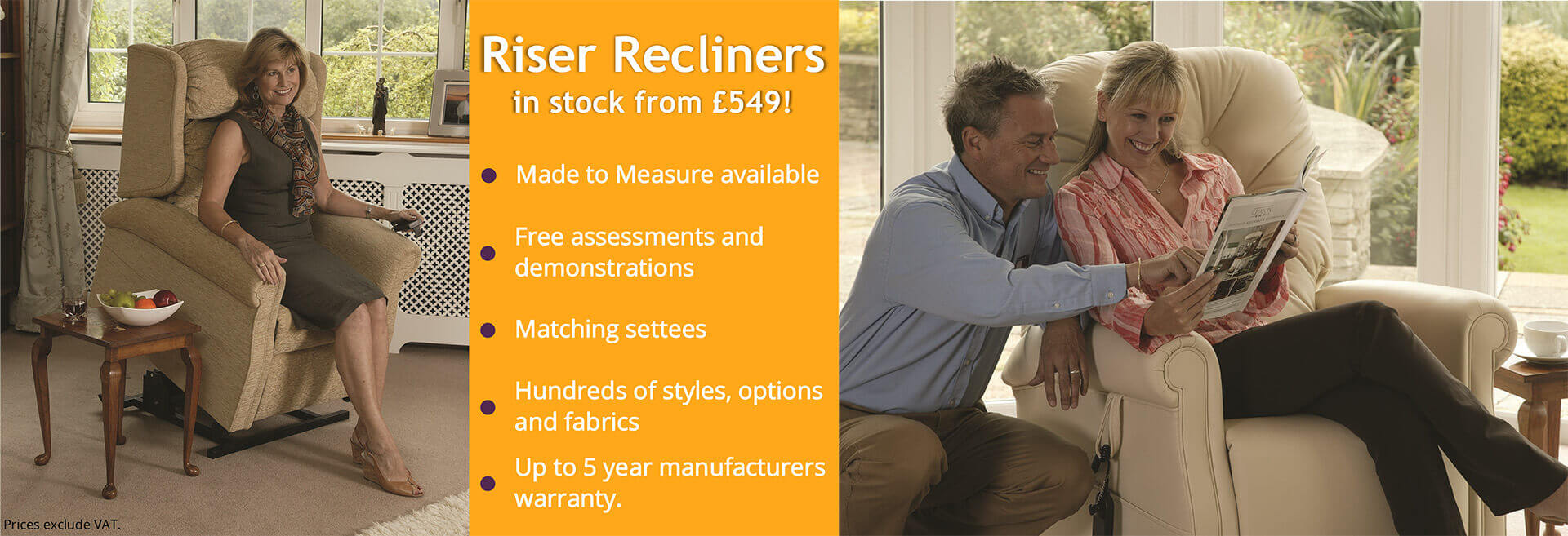 Riser Recliners in Market Harborough